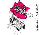 Cat Portrait In Profile In A...