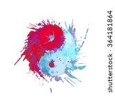 yin and yang made of colorful...   Shutterstock .eps vector #364181864