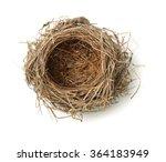 Top view of empty bird nest...