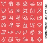 valentine's day icons set.... | Shutterstock .eps vector #364195730