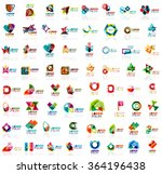 mega set of paper logo abstract ... | Shutterstock .eps vector #364196438