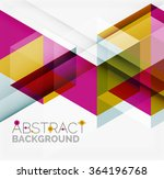 vector triangle background | Shutterstock .eps vector #364196768