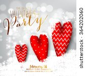 valentine's day party... | Shutterstock .eps vector #364202060