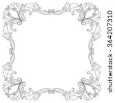vintage baroque frame scroll... | Shutterstock .eps vector #364207310