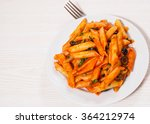 penne pasta with tomato sauce   Shutterstock . vector #364212974