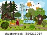 fairy forest of childish dream. ... | Shutterstock .eps vector #364213019