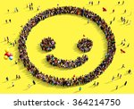 large and diverse group of... | Shutterstock . vector #364214750