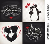 valentine's day cards. set of... | Shutterstock .eps vector #364215200