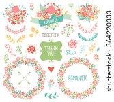 wedding vintage elements... | Shutterstock .eps vector #364220333