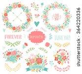 wedding vintage elements... | Shutterstock .eps vector #364220336