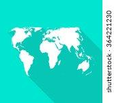 world international white map... | Shutterstock .eps vector #364221230