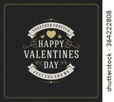 valentine's day greeting card... | Shutterstock .eps vector #364222808
