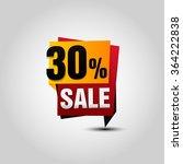 vector sale paper banner. sale... | Shutterstock .eps vector #364222838