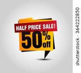 vector sale paper banner. sale... | Shutterstock .eps vector #364222850