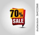 vector sale paper banner. sale... | Shutterstock .eps vector #364222868