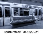 fast moving subway. interior...