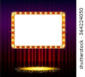 frame on stage curtain with... | Shutterstock .eps vector #364224050