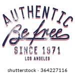 vintage script   college... | Shutterstock .eps vector #364227116