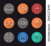 men's accessories flat linear... | Shutterstock .eps vector #364227644