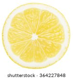 lemon slice isolated on the... | Shutterstock . vector #364227848
