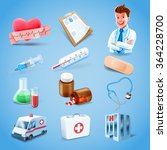 icons medical health care | Shutterstock .eps vector #364228700