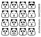 panda emotional emoji square... | Shutterstock .eps vector #364228808
