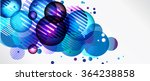 abstract background with round... | Shutterstock . vector #364238858