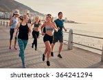 portrait of young runners... | Shutterstock . vector #364241294