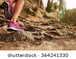 close up of an athlete's feet... | Shutterstock . vector #364241330