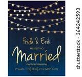 wedding invitation template... | Shutterstock .eps vector #364242593