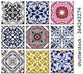 vintage retro ceramic tile...   Shutterstock .eps vector #364243274