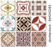 vintage retro ceramic tile... | Shutterstock .eps vector #364243283