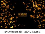 abstract 3d chaotic particles.... | Shutterstock .eps vector #364243358