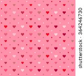 romantic colorful vector heart... | Shutterstock .eps vector #364246730