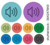 color volume flat icon set on...
