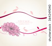 abstract floral background.... | Shutterstock .eps vector #364249040