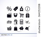 shopping icons | Shutterstock .eps vector #364252208