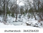 Frozen Waterfall And Brook In...