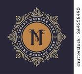monogram emblem insignia.... | Shutterstock .eps vector #364258490