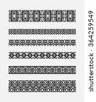 set of patterns for borders... | Shutterstock . vector #364259549
