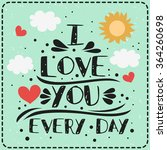 typography poster with romantic ... | Shutterstock .eps vector #364260698