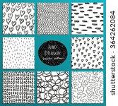 hand drawn seamless patterns... | Shutterstock .eps vector #364262084