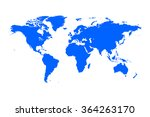 vector world map connection... | Shutterstock .eps vector #364263170