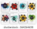 poster or flyer design template ... | Shutterstock .eps vector #364264658