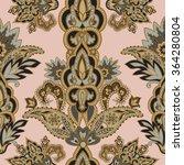 flourish tiled pattern. floral... | Shutterstock .eps vector #364280804
