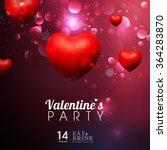 beautiful happy love valentines ...   Shutterstock .eps vector #364283870