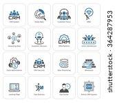 flat design icons set. business ...   Shutterstock .eps vector #364287953