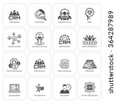 flat design icons set. business ...   Shutterstock .eps vector #364287989