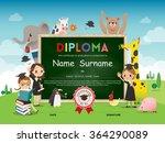 school kids diploma certificate ... | Shutterstock .eps vector #364290089