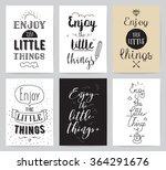 inspirational cards 6 set.... | Shutterstock .eps vector #364291676